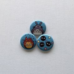 Ghibli Button Set by scientificculture on Etsy
