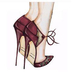 High heels Fashion llustration