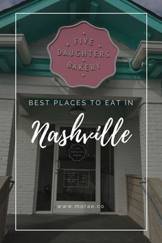 Click through to find the best places to eat for your next Nashville vacation. Whether you're looking for a great spot to grab breakfast, mexican food, burgers and beer, or just a cool place to hangout, we've got you covered.