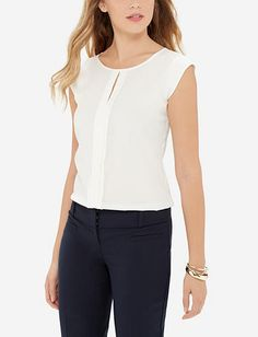 Pleat Front Shell - Like this blouse!