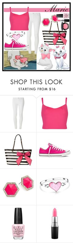 """""""Marie"""" by xxkaitlyn on Polyvore featuring Disney, Dorothy Perkins, Ted Baker, Gabriella Rocha, Converse, ABS by Allen Schwartz, Bling Jewelry, OPI, MAC Cosmetics and H&M"""