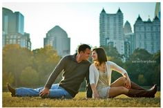 skyline city photo :: Piedmont Park Atlanta GA engagement session » Sara Elyse Photography