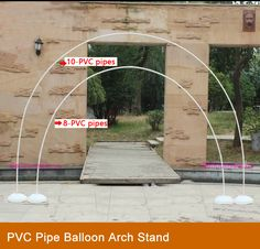 PVC Pipe Balloon Arch Stand Cord &Connectors - Click Image to Close - Balloon Decorations 🎈 Balloon Arch Diy, Ballon Arch, Deco Ballon, Balloon Columns, Balloon Garland, Balloon Decorations, Rainbow Balloon Arch, Balloon Tower, Diy Wedding Backdrop