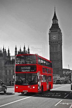 Big Ben & Red Bus London!
