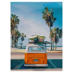 Overstock.com: Online Shopping - Bedding, Furniture, Electronics, Jewelry, Clothing & more Canvas Art Prints, Painting Prints, Canvas Wall Art, Paintings, Blue Painting, Canvas Canvas, Hanging Artwork, Artwork Wall, Retro Cars