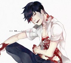 Bloody anime boy Gore Guro