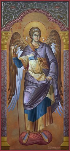 The Holy Archangel Michael, Commander of the Angelic Hosts. Religious Images, Religious Icons, Religious Art, Byzantine Icons, Byzantine Art, Angel Protector, Archangel Raphael, Raphael Angel, Angels Among Us