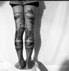 #tattoofriday - Thieves of Tower e suas tatuagens dark e góticas;