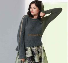Свободный пуловер женский, фото 1.
