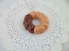 Bon appetit! Chocolate Dipper Cruller Necklace