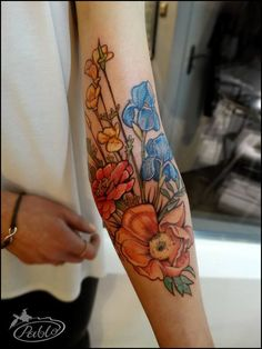 Colored Roses Tattoos, Perfect Design for WomenTattoo Themes Idea   Tattoo Themes Idea