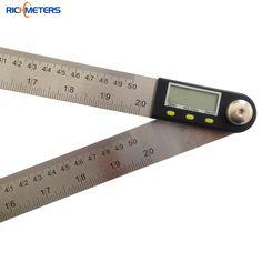 500 mm Digital inclinómetro del prolongador goniómetro herramienta de medición del nivel electrónico medidor de ángulo de acero inoxidable gobernante ángulo