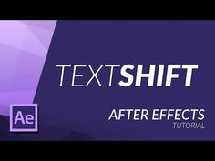 TEXT SHIFT EFFECT in AFTER EFFECTS - YouTube