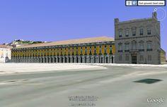 Modelação 3D do Terreiro do Paço - Ministério das Finanças.  Pode encontrar este nosso trabalho na camada earth do google maps.