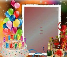 Kimi template created by manutencop. Happy Birthday Cake Photo, Birthday Photo Frame, Happy Birthday Frame, Happy Birthday Posters, Happy Birthday Flower, Happy Birthday Video, Birthday Frames, Happy Birthday Greetings Friends, Happy Birthday Wishes Photos