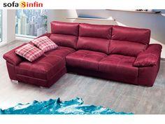 Sofá con chaise-longue modelo Casino fabricado por Divani Star en Sofassinfin.es