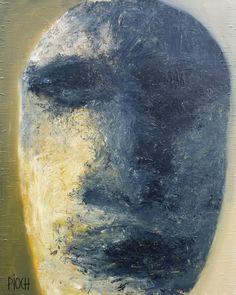 Comme un selfie (Peinture),  100x80 cm par Olivier PIOCH Acrylique sur toile tendu.  Autoportrait.