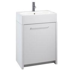 Openspace 600 Countertop Basin Unit - White Gloss   bathstore