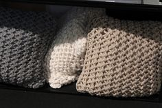 Knitted pillows by nord