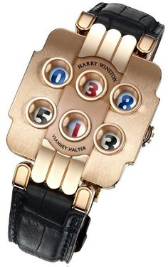 In addition to expensive, Harry Winston jewelry generally suggests traditionalism, and conservative attire. Yet, these radical Harry Winston watches are an eyeful... ~CRV~