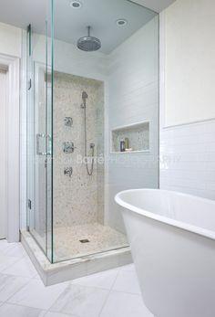 Residence - traditional - Bathroom - Toronto - Estee Design Inc. Small Bathroom, Master Bathroom, Bathroom Ideas, Bath Ideas, Home Design Decor, House Design, Attic Inspiration, Creative Inspiration, Small Showers