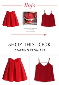 """Red."" by oneofthedirectioners ❤ liked on Polyvore featuring Chicwish and red"