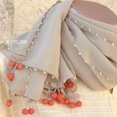 Turkish OYA Needle Lace Cherry Chiffon stole/Shawl BEIGE- Scarf Shawl For Her Gift For all season Women Scarf Women Fashion Accessories
