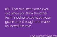 Goalies.