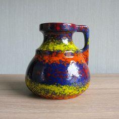 Italian Pottery Vase Mid Century Modern Made in Italy | Etsy