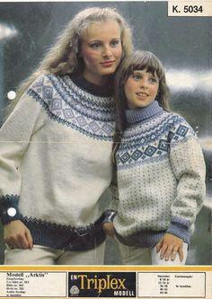 Arktis 5034 Love Blue, Blue And White, Crochet Baby, Knit Crochet, Hand Knitting, Knitting Patterns, Norwegian Knitting, Fair Isle Pattern, Knitwear
