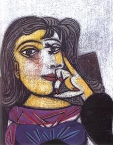 Portrait de Dora Maar - (Pablo Picasso)