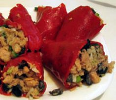 Pimientos Rellenos de Atun - Red Peppers Stuffed with Tuna - (c) 2007 L. Sierra Licensed to About.com
