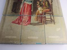McLoughlin Victorian Antique 1897 Cube Puzzle Wood Box Sleeping Beauty 2 Sides | eBay