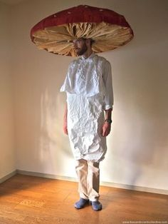 The Cardboard Collective: cardboard mushroom costume (Next year's Halloween costume!)