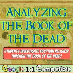 Ancient Egypt & Book of the Dead! Analyzing the afterlife of Ancient Egyptians! Ancient Egypt Afterlife, Ancient Egypt Books, Ancient Egypt Activities, 7th Grade Social Studies, Teaching Social Studies, Book Of The Dead, The Book, School Department, Grades