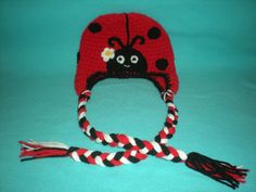 Made to Order - Crochet Ladybug Hat with Tassels