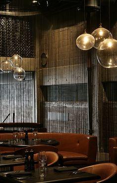 Clooney Restaurant, Auckland, New Zealand by Fearon Hay Architects Restaurant Hotel, Restaurant Design, Restaurant Interiors, Restaurant Ideas, Cafe Interior, Interior And Exterior, Interior Design, Brown Interior, Commercial Design