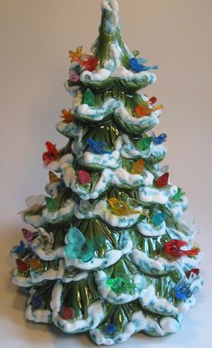 Holland Mold Ceramic Christmas Tree Flocked by Christmas24Seven, $60.00
