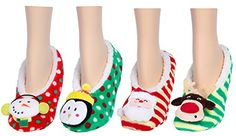 Christmas Holiday Snuggle Feet Fuzzy Slippers Non-Slip Socks House Booties 1 Pair Gilbin http://www.amazon.com/dp/B00P59YDU4/ref=cm_sw_r_pi_dp_vrKUwb0P16Z0C