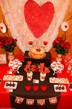 Gorgeous Valentine's Day party!  See more party ideas at CatchMyParty.com!