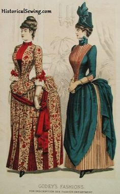 Bustle Era Changes – The Highs & Lows in the 1870s & 1880s