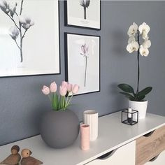 Delicate and minimalistic grey&pink