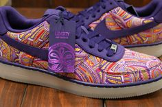 A Liberty print turning up where I never would have looked for it.  Love the colors!   Liberty x Nike Air Force 1 Downtown Paisley