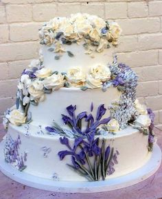 I very seldom do buttercream flowers any longer but I do love the cakes done at Cupcake Cafe in New York. Beautiful and colorful flowers.