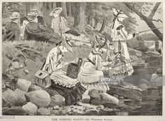 News Photo : The Fishing Party, 1869. Creator Mary Cassatt . Google Art Project, Winslow Homer, Fine Art Prints, Canvas Prints, Classic Image, Wood Engraving, Museum Of Fine Arts, Heritage Image, American Artists