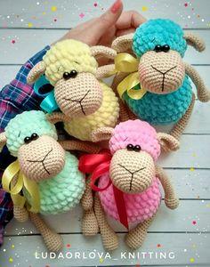 Зефирные овечки. Бесплатная схема для вязания игрушки. FREE amigurumi pattern. #амигуруми #amigurumi #схема #pattern #вязание #crochet #knitting #овечки #овечка #lamb #sheep