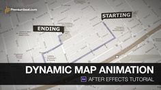 Learn how to create an animated map in After Effects with with a route reveal and starting/ending labels. This basic After Effects tutorial is great for local business…
