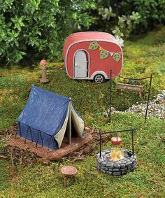 Five-Piece Camper Décor Set LOVE this Fairy Garden Collection! If only I'd seen it sooner @shawpink!!!