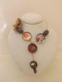 Bottle Cap Necklace by ScarlettKaysedy on Etsy, $25.00