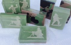 SOLDIER glycerin soap birthday wedding gift party children BOYS present fun ARMY chamo chamoflage chocolate by cltcrafts on Etsy https://www.etsy.com/listing/206996486/soldier-glycerin-soap-birthday-wedding